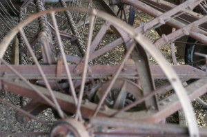 Antique farm machinery, Mount Barker Museum, Western Australia